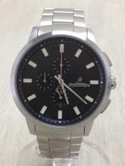 クォーツ腕時計/OR-0014/TEMPORALE/テンポラーレアナログ/ステンレス/BLK/SLV