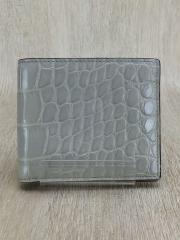 2つ折り財布/--/GRY/無地/箱有り
