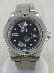 クォーツ腕時計/アナログ/BLK/SLV/GB13AT/AC23