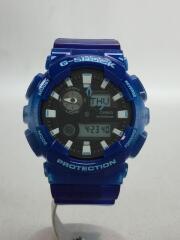クォーツ腕時計・G-SHOCK/デジアナ/ラバー/BLK/BLU/ブルー
