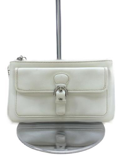 0b70eb24452b COACH(コーチ) / ポーチ/レザー/WHT/ホワイト/白/革/鞄/フラップポケット ...