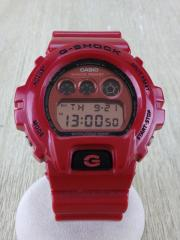 クォーツ腕時計/デジタル/PVC/RED/RED