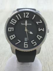 クォーツ腕時計/アナログ/PVC/GRY/SLV