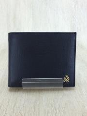 LM0716/2つ折り財布/レザー/NVY/無地/メンズ/箱有り