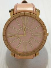 クォーツ腕時計/アナログ/--/PNK/BEG
