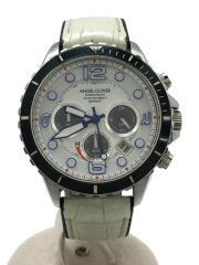 TIME CRAFT DIVER/タイムクラフトダイバー/ソーラー腕時計/アナログ/レザー/TCD45