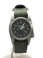 BERTUCCI◆ベルトゥッチ/Field Watch/腕時計/アナログ/キャンバス/BLK/M-1S