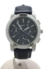 クォーツ腕時計/クロノグラフ/非純正ベルト/アナログ/レザー/NVY/NVY/V654-0A10