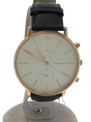 JARYN/ジャリン/クォーツ腕時計/MK-8595/アナログ/レザー/WHT/BLK