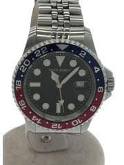 クォーツ腕時計/GMT400-BURD/アナログ/ステンレス/BLK/ペプシカラー