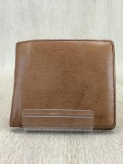 2つ折り財布/レザー/ブラウン/アニアリ/ウォレット