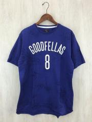 Tシャツ/サイズL/コットン/BLU/ブルー/マジックスティック/柄