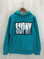 SUPNY Logo Pullover Hoodie /パーカー/M/コットン/GRN/無地/2010A/W