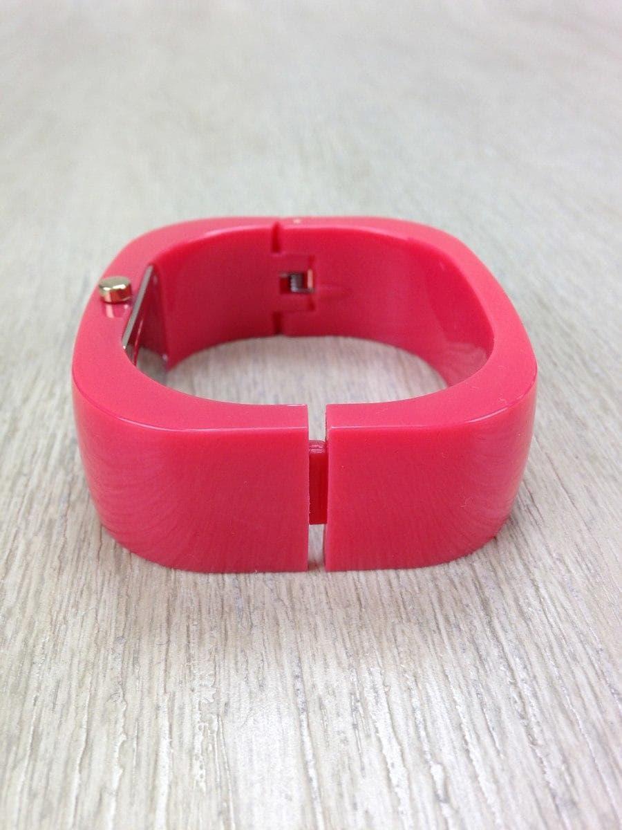 c9a9e4e0da2b ペーパームーンバングル/ウォッチクォーツ腕時計/アナログ/--/GLD/RED/ピンク