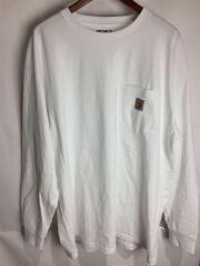 カーハート/長袖Tシャツ/XXL/コットン/WHT/無地/袖内側汚れ有り