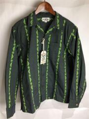 キャリー/Jacquard stripe L/S shirt/長袖シャツ/M/総柄/CL-19SS030