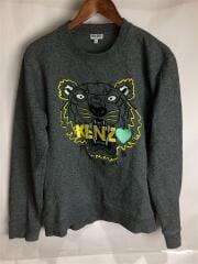 ケンゾー/刺繍 スウェット/L/コットン/GRY/F965SW0184X4