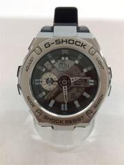 カシオ/G-STEEL/クォーツ腕時計/デジアナ/ラバー/BLK/BLK