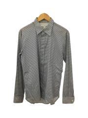 マルタンマルジェラ/長袖シャツ/--/コットン/WHT/総柄/襟・袖汚れ有り