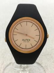 ALFEX/腕時計/アナログ/ラバー/BEG/BLK