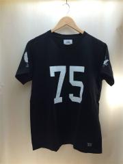 Tシャツ/半袖カットソー/ナンバリングTEE/XL/コットン/ブラック/ストリート/ルード/メンズ