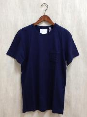 WHITE RAVEN/INTRECCIATO POCKET T/Tシャツ/50/コットン/NVY/無地