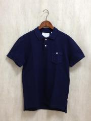 WHITE RAVEN/Iintrecciato Polo Shirt/ポロシャツ/48/コットン/NVY