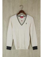 VICOMTE A/Vネックセーター(薄手)/--/--/WHT/SIZE:T2