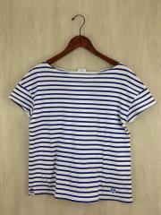 ボーダーTシャツ/--/コットン/BLU