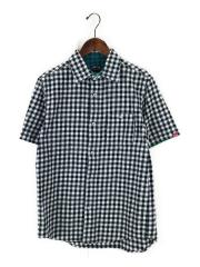 半袖シャツ/M/コットン/BLK/チェック
