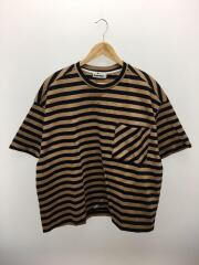 18SS/ポケットTシャツ/M/コットン/BEG/ボーダー