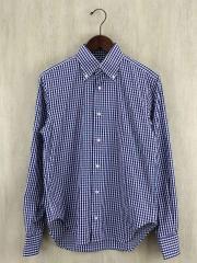 17SS COOLMAXギンガムチェックBDシャツ/表記サイズ39/コットン/BLU