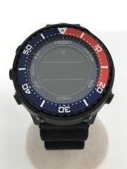 PROSPEX/フィールドマスター/ソーラー腕時計/デジタル/ラバー/BLK/S802-00A0