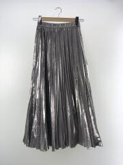 オリガミプリーツスカート/ロングスカート/36/ポリエステル/SLV/522010800201-01