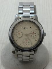 クォーツ腕時計/アナログ/BEG/SLV