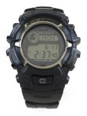 ソーラー腕時計/デジタル/ラバー/BLK/BLK