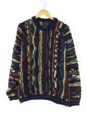 セーター(厚手)/L/ウール/マルチカラー