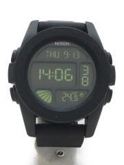ニクソン/中古/デジタル/クオーツ腕時計/ユニット/ブラック/シリコンベルト