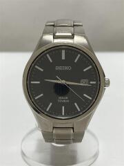 クォーツ腕時計/アナログ/ステンレス/BLK/SLV/V157-0BB0