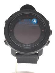 Traverse ALPHA/スマートウォッチ/クォーツ腕時計/デジタル/ナイロン/BLK/BLK