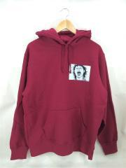 17AW/×AKIRA Patches Hooded Sweatshirt/パーカー/L/コットン/RED/レッド