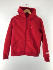 17AW/Small Box Zip Up Sweatshirt/S/ポリエステル/RED/無地/レッド