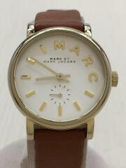 クォーツ腕時計/アナログ/レザー/WHT/BRW/MBM1317/ベイカー