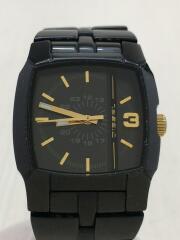 クォーツ腕時計/アナログ/ステンレス/BLK/BLK/DZ-5332