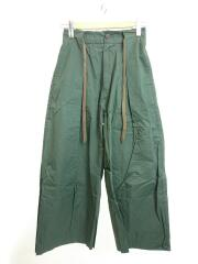 COTTON TWILL COATING WIDE TROUSERS/ボトム/O/コットン/GRN/NMPT-17AW
