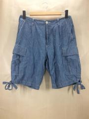 ショートパンツ/S/コットン/BLU/JA-P206/AD2007