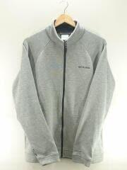 フリースジャケット/XL/コットン/GRY/無地/PM1334