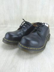 ブーツ/UK7/BLK/レザー/つま先キズ有