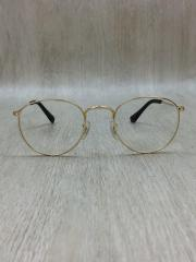 ROUND METAL GLASSES/メガネ/GLD/CLR