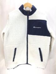フリースジャケット/L/ポリエステル/WHT/C3-Q615/ボアジャケット